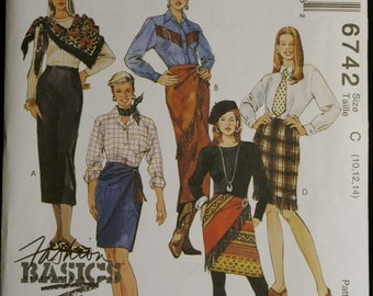 McCalls 6742 Misses Skirt in Two Lengths Pattern Size 10 to 14
