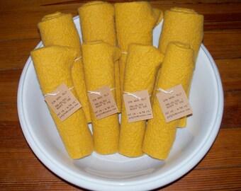 Fat 1/8 Wool Felt Yellow Shades