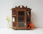 Small Vintage Hanging Curio Display Shelf