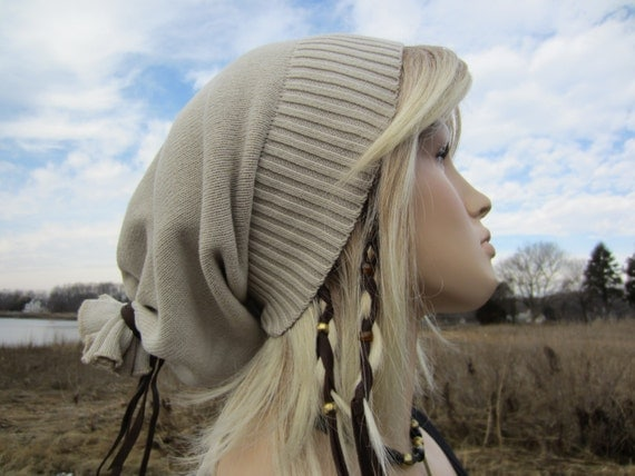 Vacation House Hats Slouch Beanie Womens Mens Baggy Back Slouchy Tam  A895