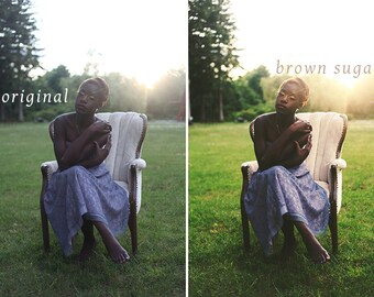 Brown Sugar and Cinnamon - Two Photoshop Actions - Warm, Bright, and Soft