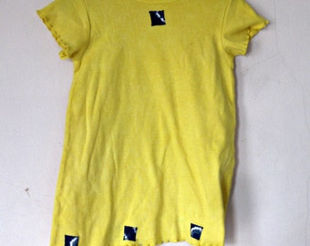 4T Yellow Dress Cotton Knit One of a Kind