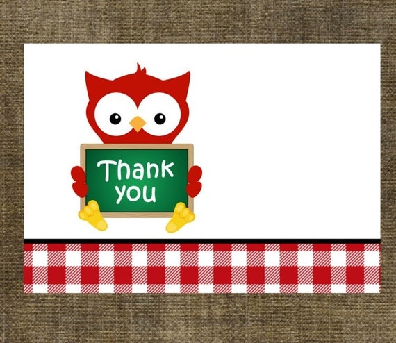 Teacher Gift Thank You Note Cards Set of 8