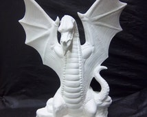 Small Grand Dragon ceramic bisque u paint it yourself