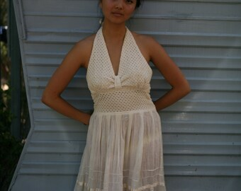 SALE summers never over gauze halter dress