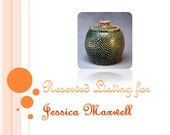 Reserved for Jessica Maxwell - Tiny Dots - Lidded Jar - Green/Red