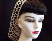 Ivory Rockabilly Snood Hair Net