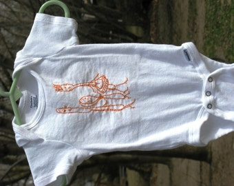 Hand Embroidered Onesie