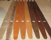 Leather guitar strap, Classic Lizard series