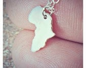 Africa necklace - African jewelry - Adoption jewelry - Ethiopia adoption necklace