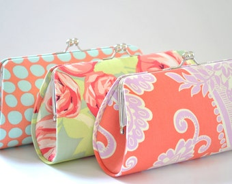 A SET of 3 Bridesmaids Clutch -  Create a Custom Bridesmaid Clutches in your choice of fabrics