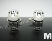 Sterling Silver Iron Man Cufflinks