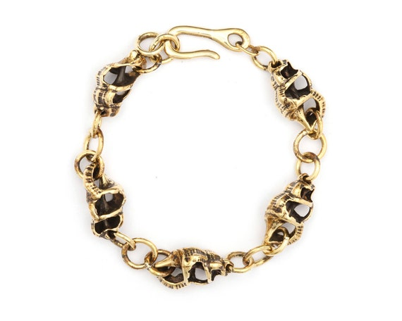 Shell Bracelet - Shell Charm Bracelet - Metal Charm Bracelet - Boho Jewelry