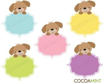 Puppy Frames Clip Art