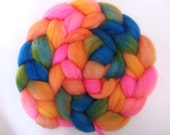 Hand Painted Superwash BFL Roving. 4 Ounces for spinning or crafting