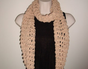 Hand Knit-Infinity Scarf, Open Work Design, Extra Long, Many Ways to Wear, Great Go-to Accessory, gifts for her