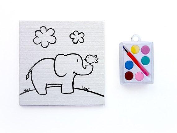 Elefanten malen Set Safari Party Favors von heathercashart auf Etsy