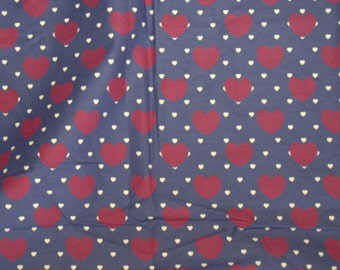 Indian Summer Pure Cotton Fabric - Heart print - One yard