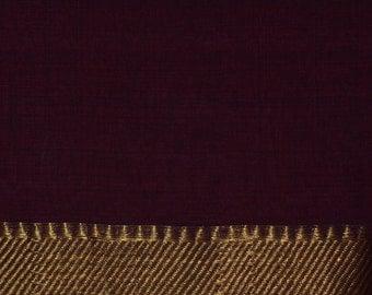 Handloom cotton fabric in Maroon - One Yard VMC 15