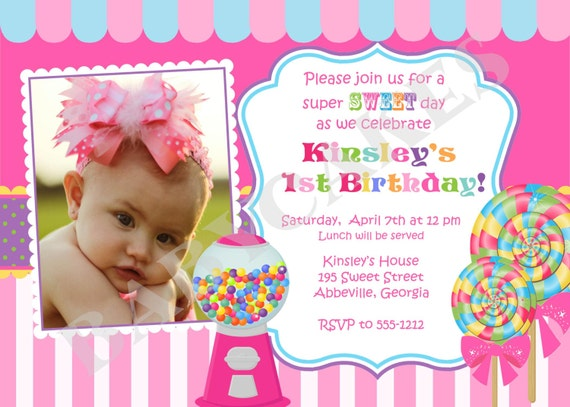 sweet shoppe birthday invitation candyland birthday diy, Birthday invitations