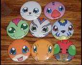 Digimon Pins - Set of 8