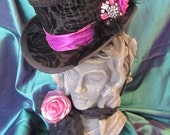 Steampunk, Gothic, Halloween, Moulin Rouge, Victorian, Mini Top Hat