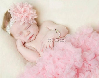 HUGE special 3 chiffon headbands for only 10.99 newborn headband, baby headband, photo prop chiffon flower headbands or clips