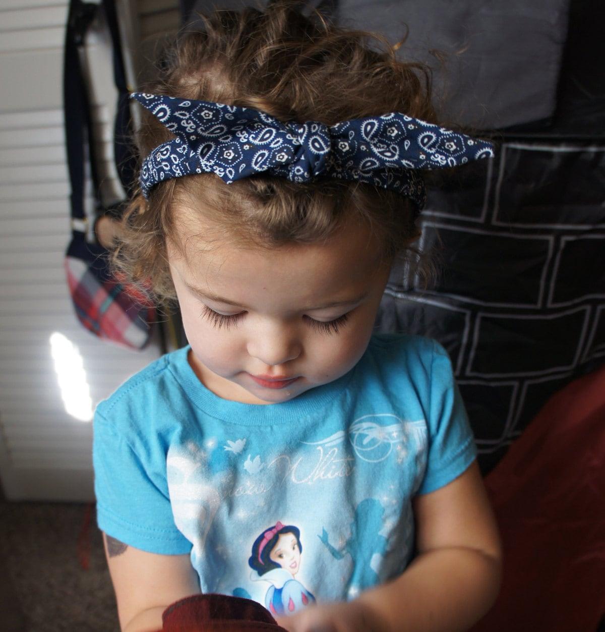 Olivia Paige Pin Up Baby Girl Bandana Headband