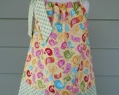 Girls pillowcase dress Hello Sunshine Riley Blake fabric perfect for Easter sizes 6 months-4T custom made by Baby Harrill