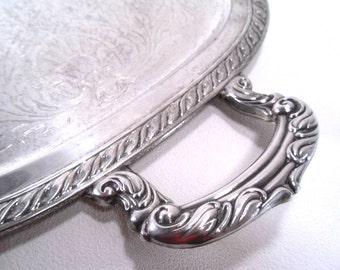 Vintage Silver Serving Tray Oneida 1989