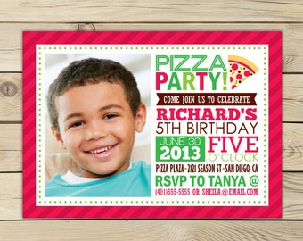 Pizza Party Invitation Printable - Pizza Party Invite - Pizza Invitation - Kids Birthday Party Invitations - Pizza Party - Birthday Invite