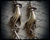 Steampunk, Earring Hands-  You have the key