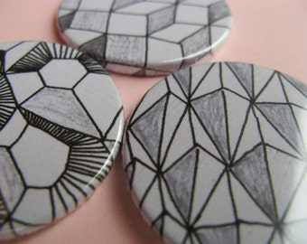 Shapes Magent or Button set of three