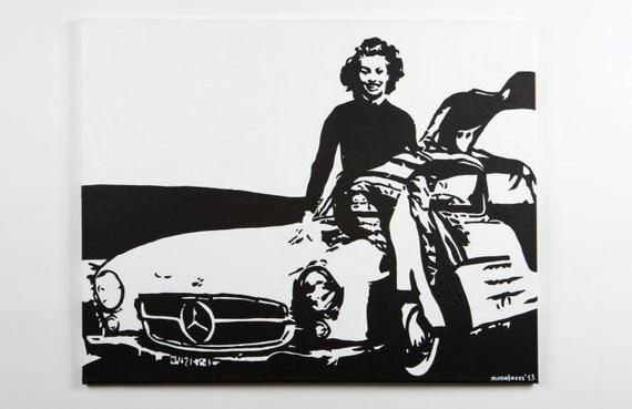Items Similar To Sophia Loren Acrylic Painting On Canvas