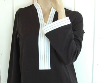 Vintage Top 70s Long Sleeve Toga
