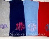 SALE Personalized Monogrammed LONG SLEEVE Pocket Tshirt Tee T Shirt monogram Initials Lime Green, White, Navy, etc