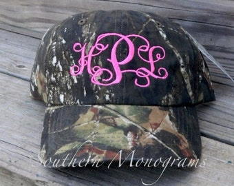 FALL SALE* Custom Personalized Monogrammed Baseball Cap Hat Camouflage Camo Great for Ladies or Men for Hunting Season