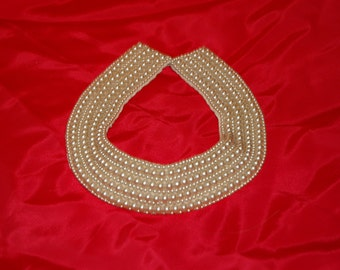"Vintage Midcentury ""Miranda"" Beaded Collar (Made in Japan)"