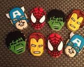 1 Dz Avenger  Super Hero Vanilla Sugar Cookies
