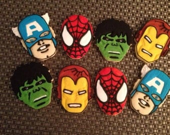 1 Dz  Super Hero Vanilla Sugar Cookies