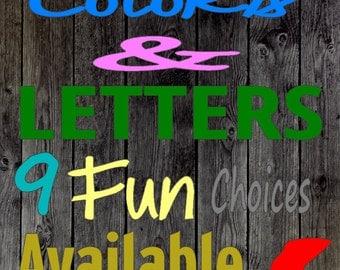 Color lettering