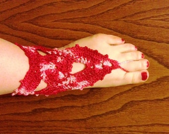 PDF Pattern Red Driangle Barefoot Sandals PDF Pattern instant download