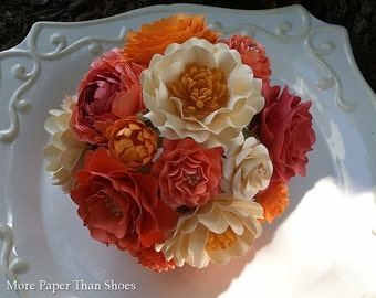 Paper Flower Bouquet - Wedding Bouquet - Bride - Custom Made - Any Style or Color
