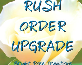 RUSH ORDER Upgrade, 24-48 hour turn around time for custom orders