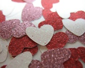 glitter heart confetti, Valentine's Day party decor, glitter confetti, Valentine's Day party decoration, sparkle confetti, 100 pieces