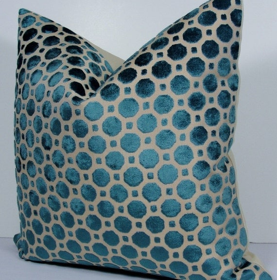 Turquoise decorative pillows for Fish food pantry sterling il