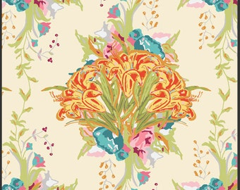 Lilly Belle Fabric Lilly Bouquet in Light by Bari J for Art Gallery Fabrics, 1 yard