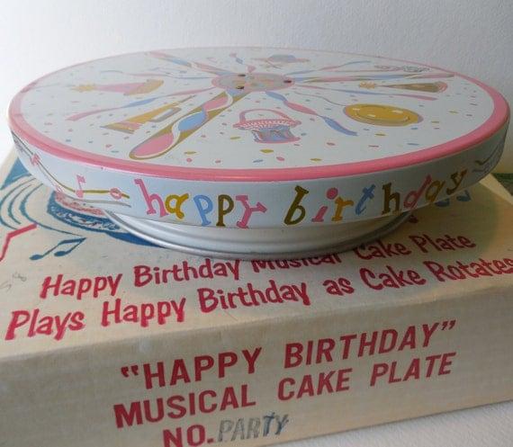 Vintage Musical Birthday Cake Stand