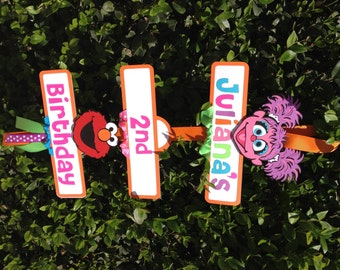 Elmo/Abby Cadabby Sesame Street Birthday Party Sign