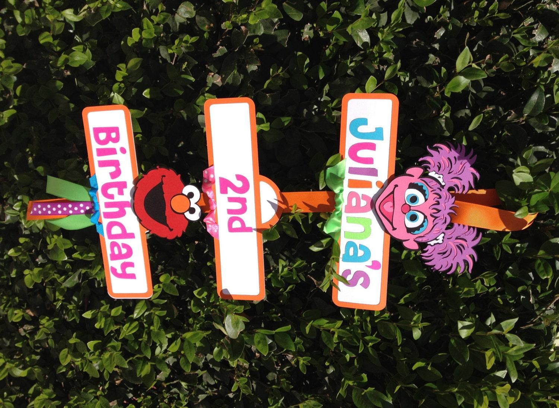 Abby Cadabby Party Decorations Elmo Abby Cadabby Sesame Street Birthday Party Sign
